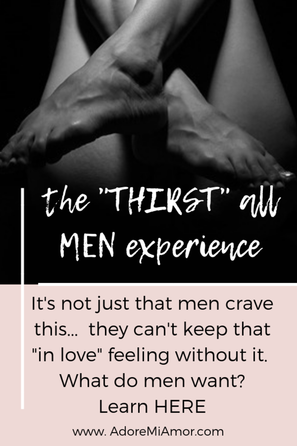 It's not just that men crave this - he can't sustain that